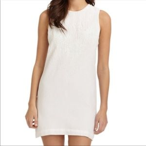 French Connection White cotton beaded shift dress